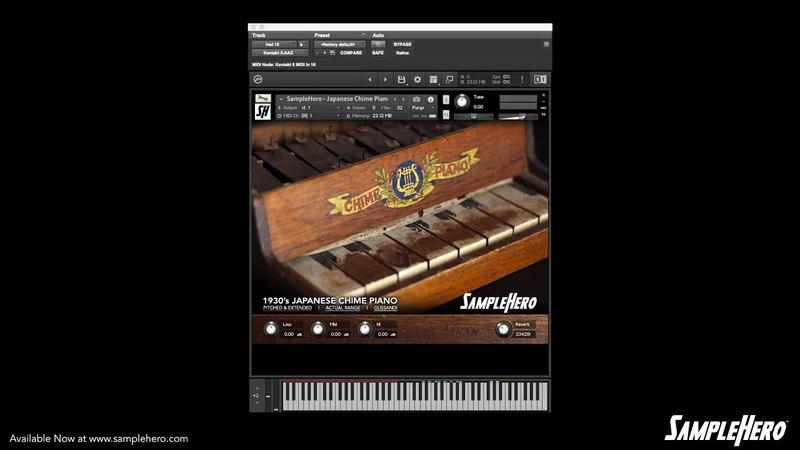 SampleHero - Japanese Chimes Piano Walkthrough Video