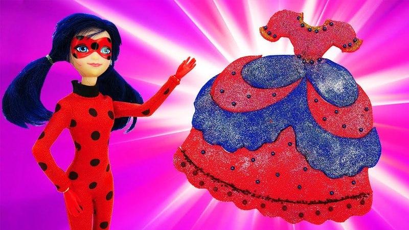 Ein Ballkleid für Ladybug. Kneten für Kinder. Play doh Video.