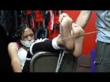 Sandra barefeet tickling bastinado full clip
