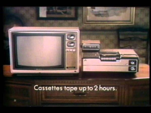 Реклама видеомагнитофона Sony Betamax 1977