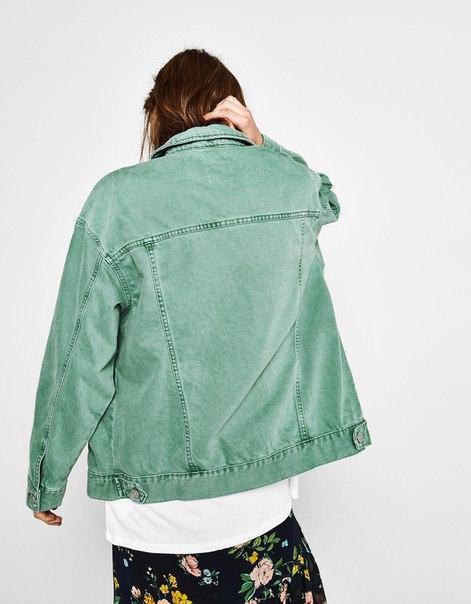 Джинсовая куртка объемного кроя