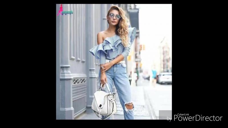 Блуза с открытым плечом-модный тренд 2018.