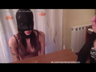 Slave girl - first time 1 spitting