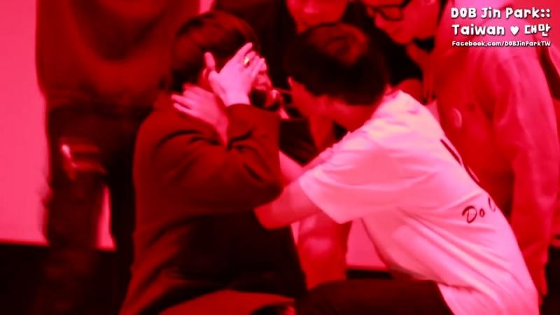 2016 01 06 디오비 빼빼로게임 박진 김태유 커플 DOB巧克力棒遊戲 朴鎮 金泰宥 CP