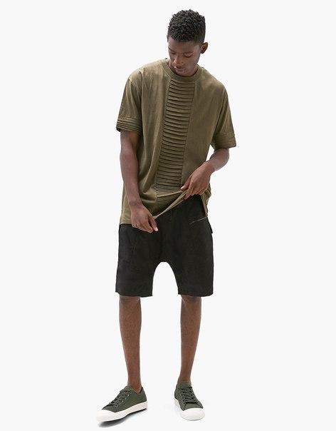 Мужские кроссовки из ткани с прорезиненным носком