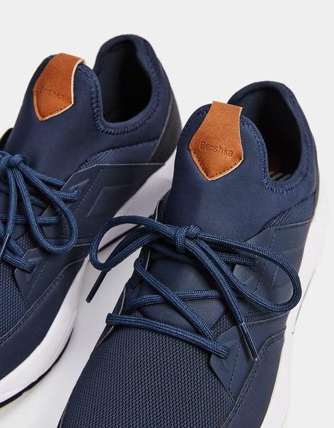 Мужские комбинированные кроссовки со вставками
