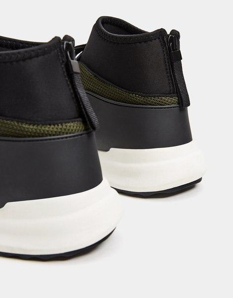 Спортивные мужские ботинки с имитацией носка на утолщенной подошве