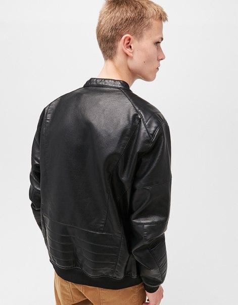 Байкерская куртка из искусственной кожи