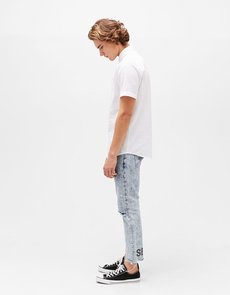 Рубашка из хлопка с текстурным узором