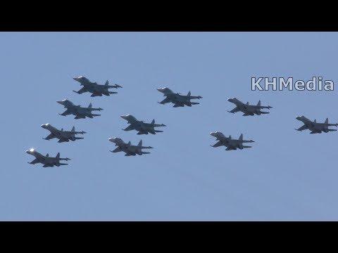105 лет ВВС 2017 МиГ-29 Су-25 Су-24 МиГ-31 Су-27 Су-30 Су-34