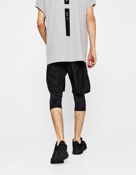 Спортивные шорты с внутренними легинсами