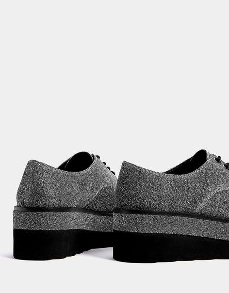 Туфли-блюхерс на платформе