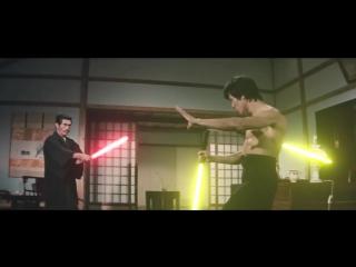 Брюс Ли со световым мечом