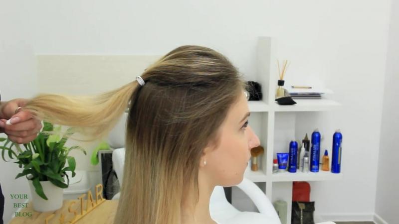 5 модных причесок на средние волосы ПУЧОК мальвинка стильные ХВОСТЫ YourBestB 1