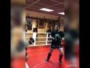 Отработка в парах ,тренер по тайскому боксу Грицаненко Михаил с учеником Артемом