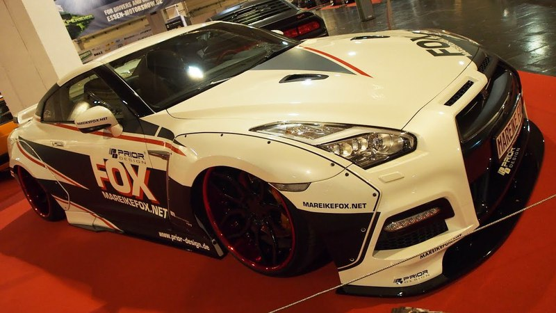 Nissan GT-R R35 Black Edition Twin Turbo VR38 600 PS, R21 Prior-Design PD3Forged Superlight, PD750WB