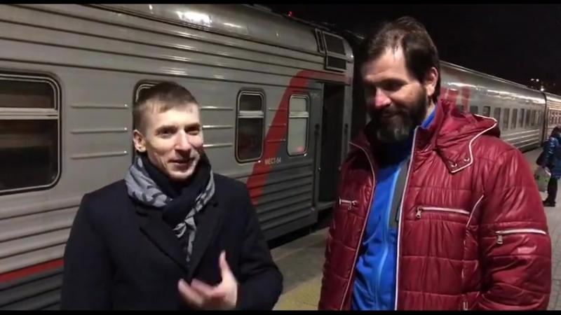 Сергей Магденко беседует с родоначальником добровольческого движения ОД