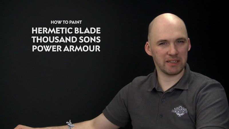 WHTV Tip of the Day - Hermetic Blade Thousand Sons Power Armour