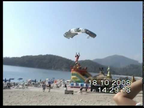 Skydiver crashes into paraglider