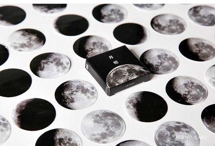Стикеры всех фаз луны 45шт