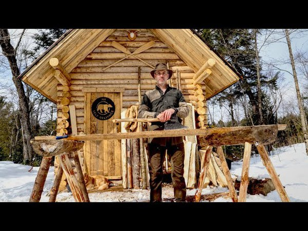 Mortise Tenon Sawhorses at the Log Cabin, Is This Really Off Grid Living?