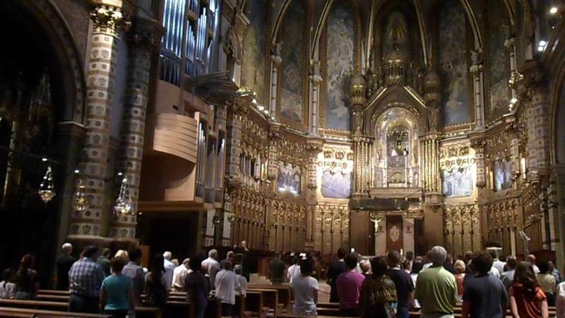Служба в Монсерратском соборе Испания Монсеррат