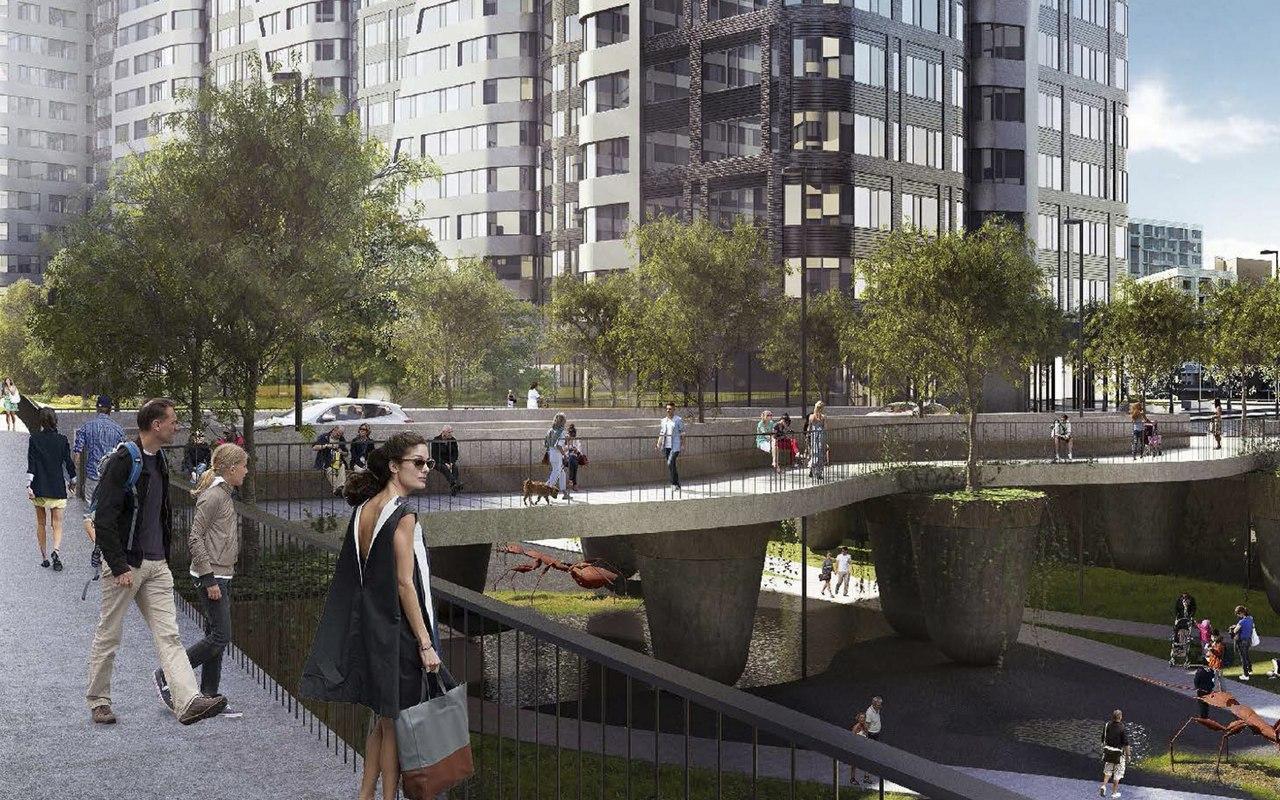 На месте бывшей промзоны «Серп и Молот» будет возведён уникальный мост
