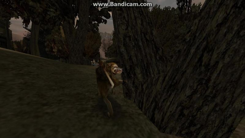 Оригинальная анимация R_pee для волка.