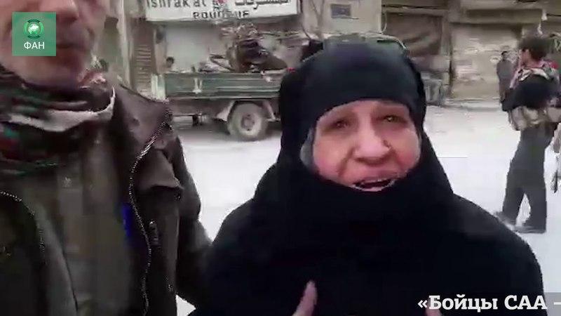 Сирия: ФАН публикует видео вывода мирных жителей через гуманитарный коридор в Хамурии