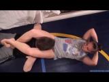 Headscissors mixed wrestling