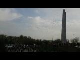 В Шымкенте прошёл митинг в память о погибших в Кемерово.