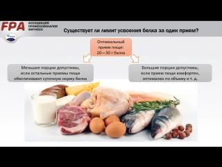 Количество белка в приёме пищи