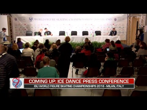 Ice Dance Free Dance Press Conference - ISU Worlds Milan 2018