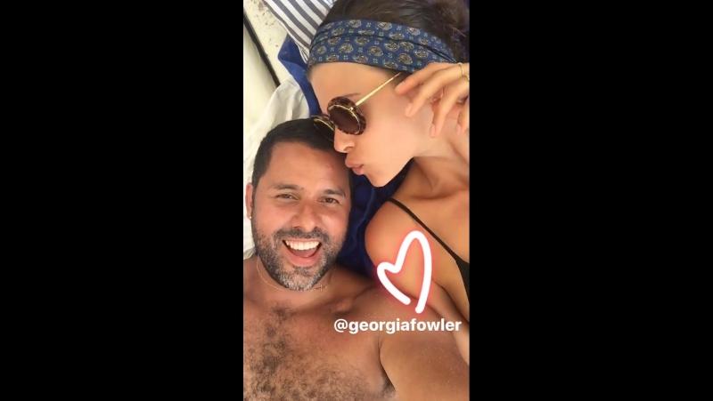 Личные видео ›› Джорджия в истории Инстаграма фотографа Мариано Вивансо, 20 июля 2017 года