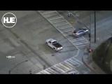 Напряженную погоню в Калифорнии транслировали с помощью вертолета
