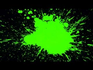 Green screen paint splat,футажи краски,футажи hd, брызги краски,футажи для видео
