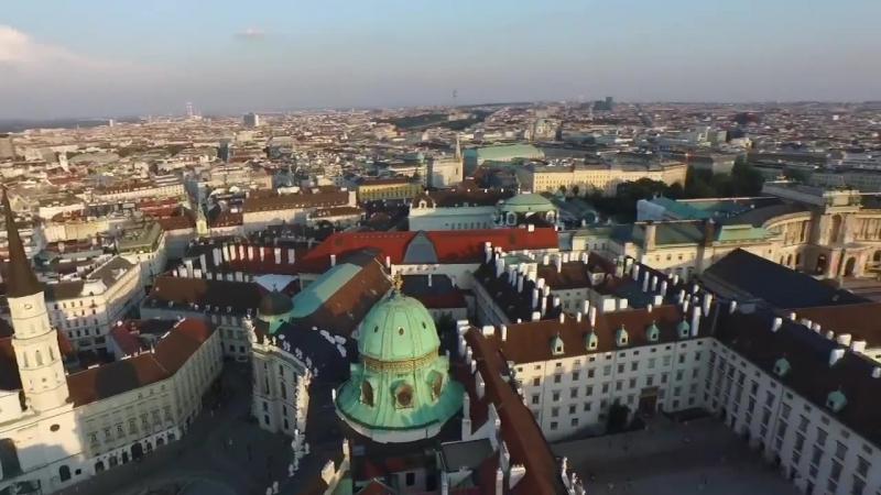 Вена - аэросъёмка. Vienna - aerial photography. Wien - Luftaufnahmen
