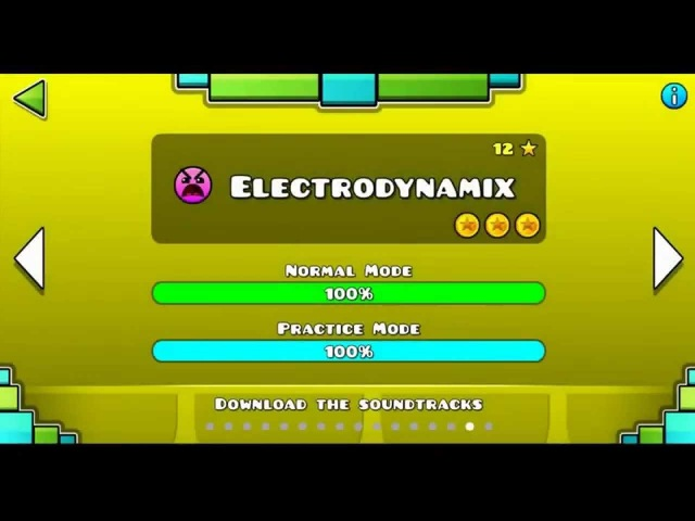 Geometry Dash - 'Electrodynamix' 100% Completet[ALL COINS]