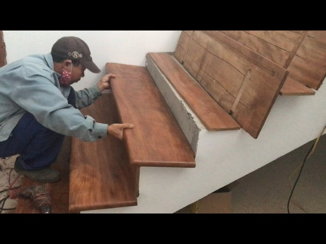 Amazing Techniques Smart Woodworking Skills Building And Installation A Wooden Staircase Treads