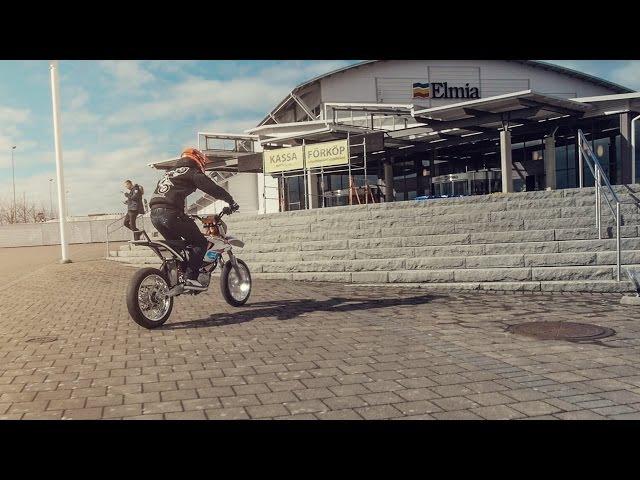 Elliot Gröndahl: KTM Freeride-E at Elmia