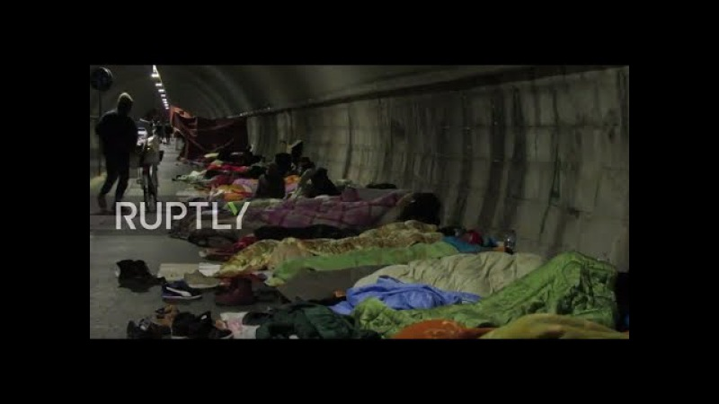 Italy: Hundreds of asylum seekers stuck in limbo, forced to live in tunnel