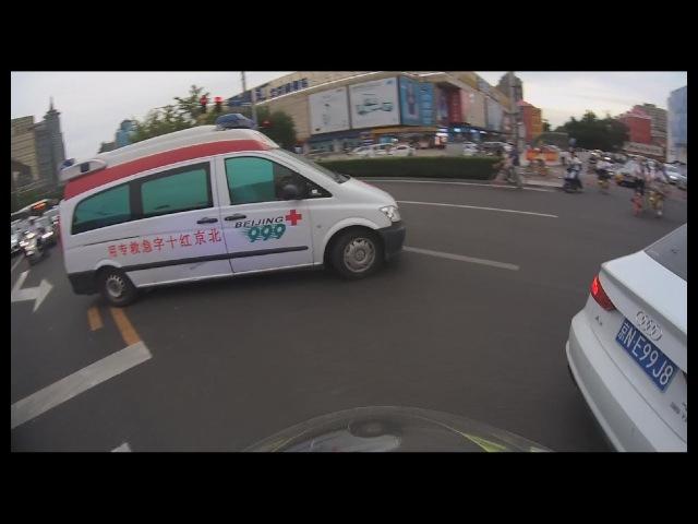 Urgent escort for Red Cross Ambulance in rush hours traffic jam