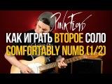 Как играть легендарное второе соло Pink Floyd Comfortably Numb на гитаре урок 12 Дэвид Гилмор
