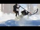 Самодельный мини снегоход с широкой гусеницей