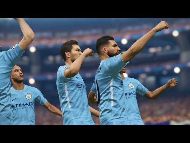Barcelona vs Manchester City / UEFA Champions League 2018 / Gameplay PES 2018