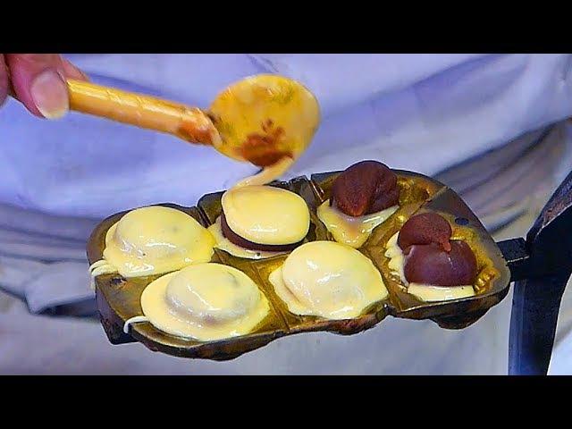 Japanese Street Food TAIYAKI CAKE Red Bean Sweet Potato Japan