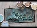 Patina card- made with Artisan Powder and Art Alchemy Waxes
