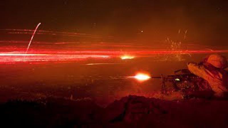 Terrifyingly Impressive Tracer Bullets Firing at Night from Guns