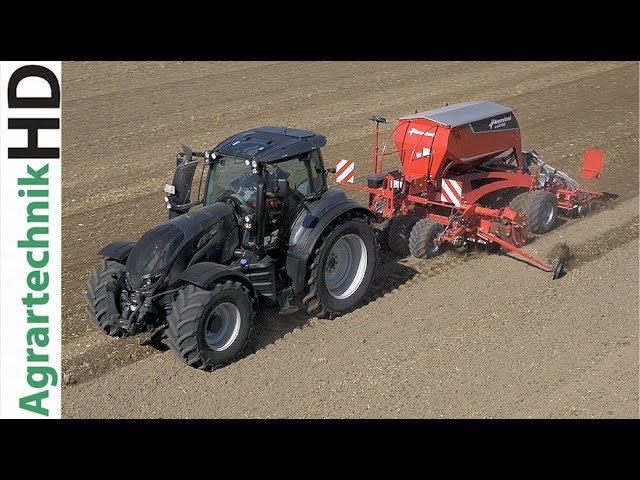 VALTRA Traktor mit Kverneland u-Drill Sämaschine | Saat | Landwirtschaft