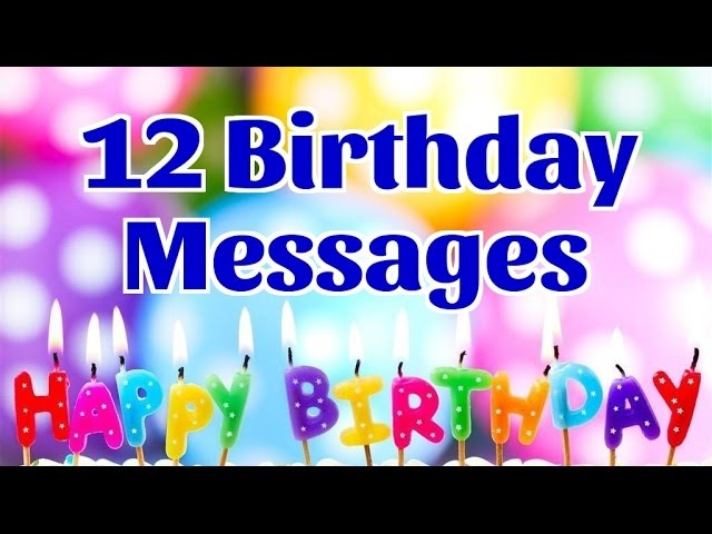 12 Birthday Messages